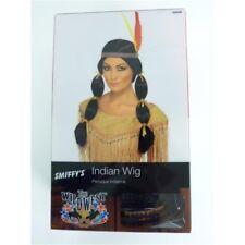 Adulto's Parrucca indiana con trecce-NERO COSTUME Donna Fascia Per Capelli