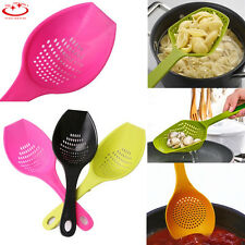 Colander Scoop Spoon Cooked Food Strainer Pasta Vegetable Rice Drainer NEW