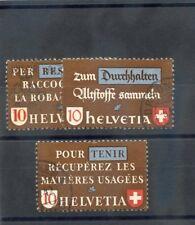 SWITZERLAND Sc 281-3,290-2(MI 405-7,428-30)F-VF USED 1942-44 SETS $30