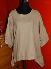 Women's Sassy Rags by Classy Sassy Couture Light Brown Linen 3/4 Top NWT LARGE