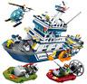 Sembo Blocksteine Polizei Patrouillenboot Figur Spielzeug Modell Geschenk 869PCS