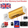 All in 1 USB Memory Card Reader Adapter For Micro SD MMC SDHC TF M2
