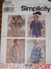 UNCIRCULATED 1977 SIMPLICITY #8292 MEN/'S RETRO SHIRT PATTERN 34-44FF 2 STYLE
