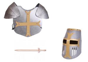Kinder Faschings Set Mittelalter aus Hartkarton Kinder Rüstung mit Schwert
