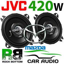 "JVC Mazda MX5 MK1 1989 - 1998 4"" 10cm 2 Way 420 Watts Headrest Car Speakers PAIR"