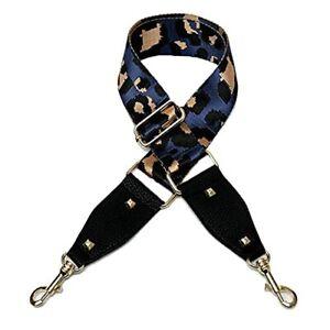 Wide leopard print Purse Strap Replacement Adjustable Crossbody Dark blue