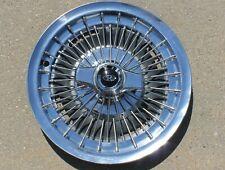 (One) OEM 1965 1966 1967 Buick Riviera 15 inch Wire Spoke Spinner Hubcap