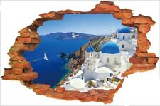 Wall Stickers Aegean Sea 3D Island Sea Wall Tattoo Wall Art Decal Home Decor