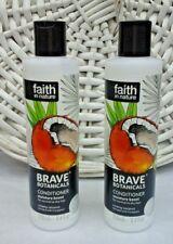 2x Faith in Nature Brave Botanicals Conditioner Creamy Coconut 2x 250ml Free P&P