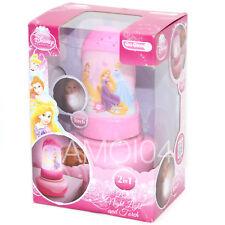 Disney Princess 2 in 1 Battery Kids Night Light & Torch Go Glow New
