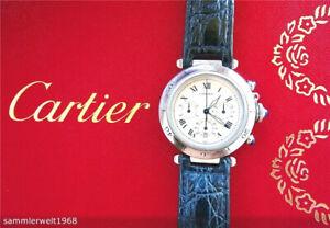 Cartier Pasha 38mm Extravaganter Hochfeiner Luxus Herren Chronograph Ref.1050