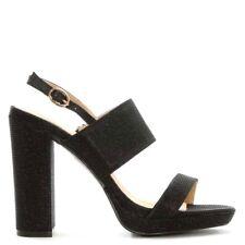 Daniel Footwear EU 40 UK 7 Mellen Black Metallic Shimmer Block Heel New Sandals