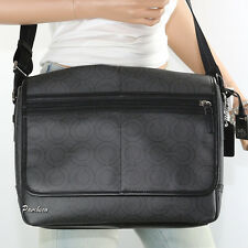 NWT Coach Men's Signature C Op Art Messenger Crossbody Bag 70270 Gray RARE New