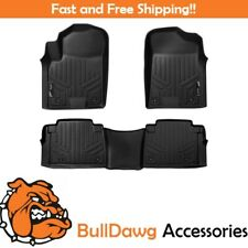 SMARTLINER Floor Mats Liner 2 Row Set for Armada - QX56 - QX80 (Black)