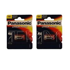 2 x CR2 Panasonic 3V Lithium Photo battery DLCR2 KCR2 CR17355 battery