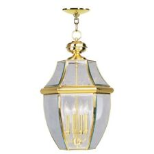 Livex Lighting Monterey Outdoor Chain Hang in Polished Brass - 2357-02