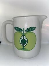 "Arabia Of Finland Vintage Pomona Green Apple Mid Century Modern  6"" Pitcher"