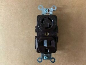 HUBBELL HBL4792 15A 125V Duplex Locking Receptacle 2 Pole 3 Wire
