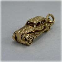 Vintage Limousine Classic Car 9ct Gold Charm or Pendant, hallmarked 1966
