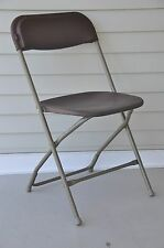 20 Plastic Folding Chairs Brown Stackable Party Event Chair Commercial Quality