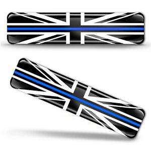 3D Silicone UK Blue Line United Kingdom Union Jack GB Britain Flag Sticker Decal