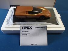 APEX REPLICAS 1:18 HOLDEN HURRICANE ORANGE 1969 CONCEPT CAR NEW IN BOX FREE POST