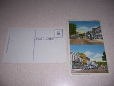1940s MAIN STREET & CENTRAL AVE. DOWNTOWN SILVER CREEK NY. LINEN POSTCARD LOT