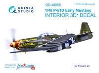 Quinta QD48065 1/48 P-51D (Early) 3D-Printed&coloured interior (for Eduard kit)