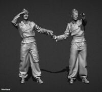 Unpainted 1/35 German Soldiers WW2 WWII Resin Figure Model Kit Unassembled