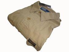 Ralph Lauren Polo Twill Military Shirt Size M Khaki Chino Long Sleeve