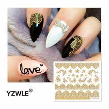 Nagelsticker  Fingernägel Aufkleber Tattoo Nail Art Nageldesign 6009 gold