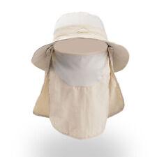 Fishing Bucket Hat Outdoor Sport Sun Protection Neck Face Flap Cap Wide Brim Us