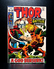 COMICS: Marvel: Thor #166 (1969), 2nd full Warlock (Him) app - RARE