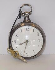 1778 Antique Silver Fusee Movement Pocket Watch Working Condition W/unique docs