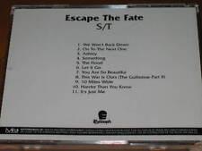ESCAPE THE FATE - S/T - 11 Track Advance Promo CD! RARE Error! This War Is Ours