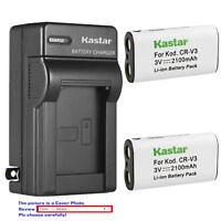 Kastar Battery Wall Charger for Pentax CR-V3 K100D Digital SLR K110D Digital SLR