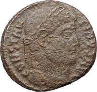 Constantine I the Great Ancient Roman Coin Military Camp Gate Bivouac  i31050