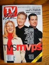 Edie Falco (only) Signed Autographed TV Guide TV's MVP Carson Daly Conan O'Brien