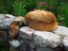 Red Fox Fur Hat ~~ Made of genuine soft real read fox skins.