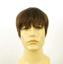 Perruque homme 100% cheveux naturel châtain clair ref STEVE 8
