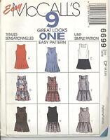 McCall's 6699 Girls' Jumper and Split-Skirt Jumper  4, 5, 6   Sewing Pattern