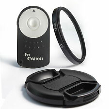 Bundle for Canon - IR Wireless Remote RC-6  for Canon + 58mm UV Filter/Lens Cap