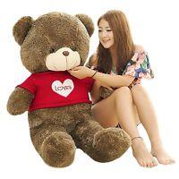 47'' Giant big Teddy Bear Huge Stuffed Plush Soft Toys doll Valentine Gift hot