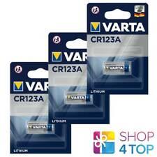3 VARTA CR123A LITHIUM BATTERY BLISTER 3V 6205 CR17345 1430 mAh EXP 2031 NEW