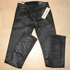 NEW DIESEL $298 Mens Slim Skinny Stretch Thavar Black Denim Sweat Jogg Jeans 28
