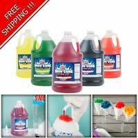 "4 Pack ""Your Choice"" 1 Gallon Syrup Mix Flavors Snow Cone Machine Shaved Ice NEW"