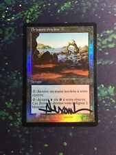 Mtg, FOIL Shivan Reef. Apocalypse Rare Dual Land, Signed! *French MP*