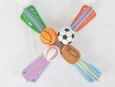 Sport Ball Foam Rocket Throw Toys, Lot of 12 ~ Colorful Fun For All Ages