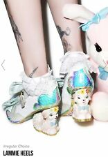 Irregular Choice Very Rare Lammie White Bridal Iridescent Lamb Heels UK 4 EU37