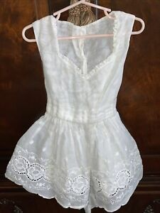 Vintage Girls Sleeveless Summer Dress with Lace Trim and Matching Jacket